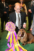 l to r:  Scott Somer(Handler) and Winner Best in Show, Stump(Sussex Spaniel), at The 133rd Westminister Annual All Breed Dog Show Finals held at Madison Square Garden on February 10, 2009..It is, quite simply the greatest tradition in the world of dogs.  For the 133rd consecutive year, the Westminister Kennel Club will once again bring together the world's very best dogs in the world's greatest sporting arena to compete for the most coveted title in the sport: Best in Show at the Westminister Kennel Club All Breed Dog Show.