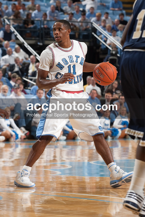 09 November 2009: North Carolina Tar Heels guard Larry Drew II (11) during a 72-88 win over the Florida International Golden Panthers at the Dean Smith Center in Chapel Hill, NC.