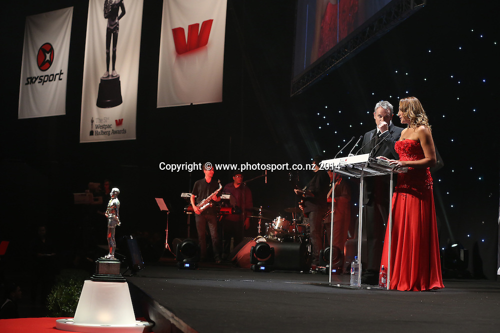 The presenters at the 51st Westpac Halberg Awards. Halberg Disability Sport Foundation. Vector Arena, Auckland, New Zealand. Thursday 13 February 2014. Photo: Fiona Goodall/www.photosport.co.nz