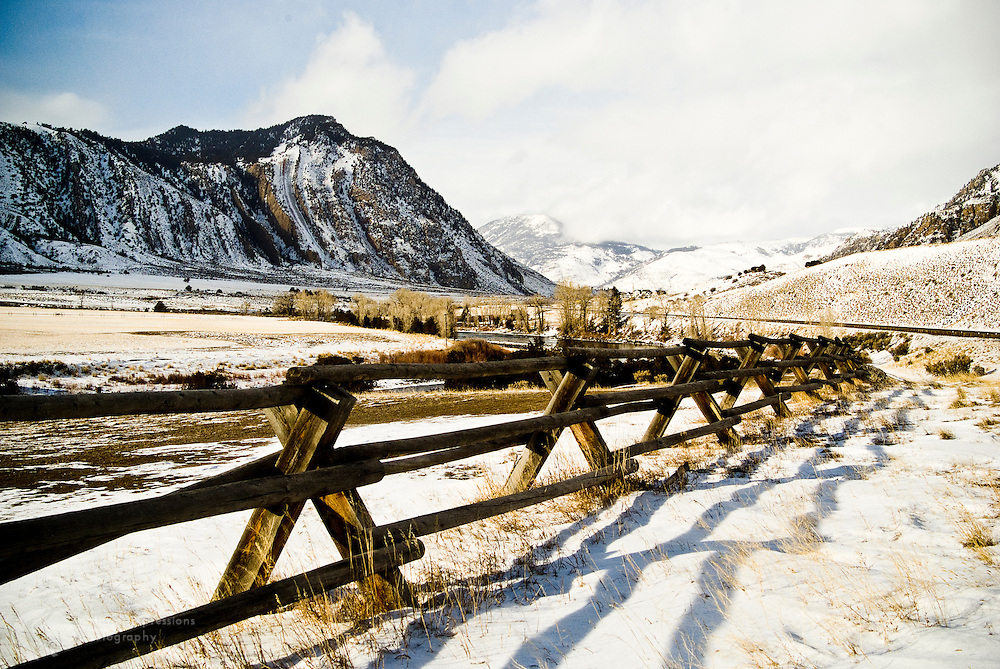 Yellowstone National Park, near Gardiner, the northernmost entrance to the park.