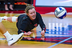 BLOOMINGTON, IL - September 14: Kendal Meier during a college Women's volleyball match between the ISU Redbirds and the University of Central Florida (UCF) Knights on September 14 2019 at Illinois State University in Normal, IL. (Photo by Alan Look)