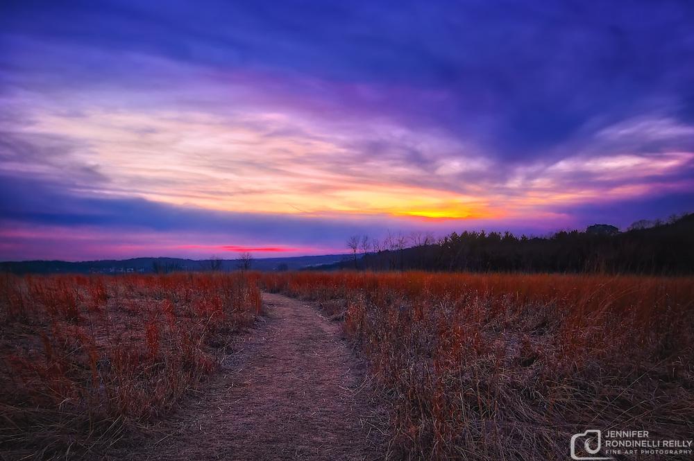 Retzer Nature Center sunset - Waukesha,WI.