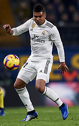 January 3, 2019 - Villarreal, Castellon, Spain - Casemiro of Real Madrid during the week 17 of La Liga match between Villarreal CF and Real Madrid at Ceramica Stadium in Villarreal, Spain on January 3 2019. (Credit Image: © Jose Breton/NurPhoto via ZUMA Press)