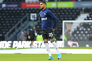 Derby County defender Max Lowe (25) in the warm up during the EFL Sky Bet Championship match between Derby County and Millwall at the Pride Park, Derby, England on 14 December 2019.