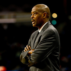 December 26, 2010; New Orleans, LA, USA; Atlanta Hawks head coach Larry Drew during the second half against the New Orleans Hornets at the New Orleans Arena.  The Hornets defeated the Hawks 93-86. Mandatory Credit: Derick E. Hingle