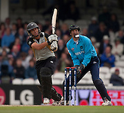 Wicket keeper Colin Smith watches a Ross Taylor four during the ICC World Twenty20 Cup match between New Zealand and Scotland at the Oval. Photo © Graham Morris (Tel: +44(0)20 8969 4192 Email: sales@cricketpix.com)