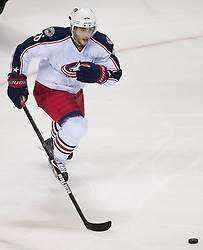 October 8, 2009; San Jose, CA, USA; Columbus Blue Jackets center Derick Brassard (16) during the second period against the San Jose Sharks at the HP Pavilion. San Jose won 6-3. Mandatory Credit: Jason O. Watson / US PRESSWIRE