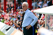 Mick McCarthy with hands on hips during the EFL Sky Bet Championship match between Brentford and Ipswich Town at Griffin Park, London, England on 13 August 2016. Photo by Matthew Redman.