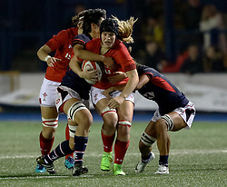 Bethan Lewis of Wales Women<br /> <br /> Photographer Simon King/Replay Images<br /> <br /> Friendly - Wales Women v Hong Kong Women - Friday  16th November 2018 - Cardiff Arms Park - Cardiff<br /> <br /> World Copyright © Replay Images . All rights reserved. info@replayimages.co.uk - http://replayimages.co.uk