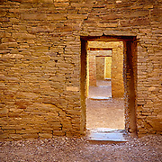 Interior walls of Pueblo Bonito, the largest Great House at Chaco Culture National Historical Park, once the center of the Ancient World and home to the most sweeping collection of ancient ruins in the American Southwest.