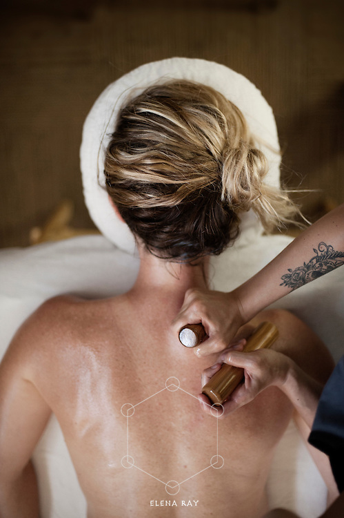 Massage and bodywork. Bamboo spa therapy.