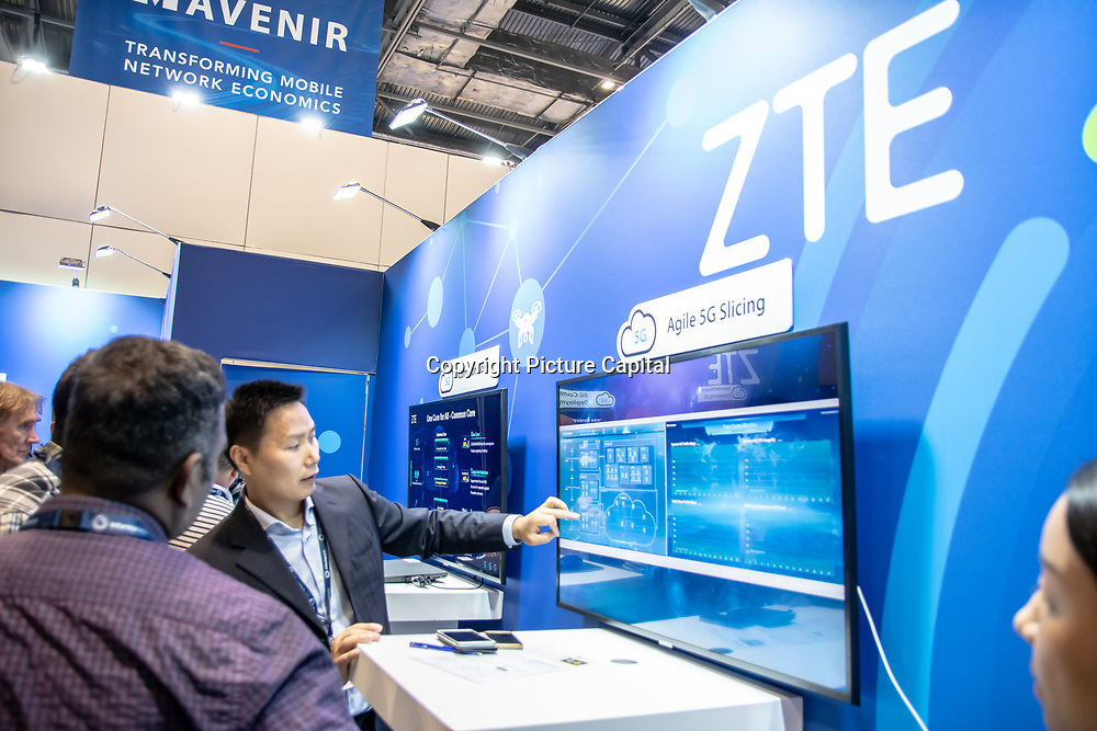 ZTE Agile 5G Slicing and 5G Mobile at London Tech Week at Excel London,on 12 June 2019, UK