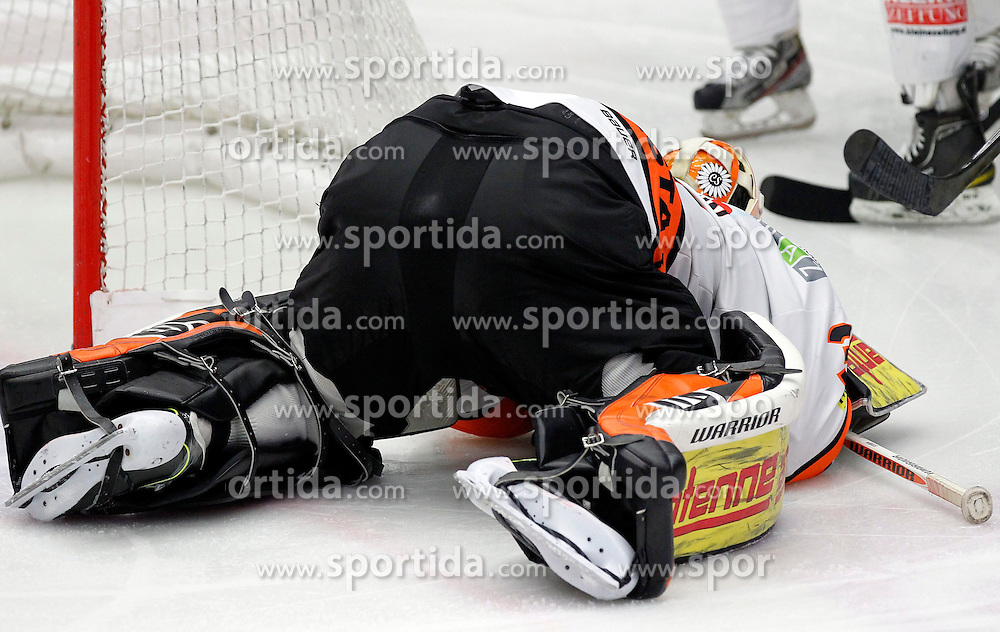 27.10..2013, Stadthalle, Villach, AUT, EBEL, EC VSV vs Moser Medical Graz99ers, 28. Runde, im Bild Dany Sabourin (Graz99ers,#35) // during the Erste Bank Icehockey League 28th round between EC VSV vs Moser Medical Graz99ers, at the City Hall, Villach, Austria, 2013/10/27, EXPA Pictures © 2013, PhotoCredit: EXPA/ Oskar Hoeher