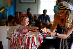 LOUISVILLE, KY, -- Gemma Marie Palmer celebrates her one year birthday with Nautical Themes, Saturday, Aug. 18, 2018 at the Cedar Shake Shack in LOUISVILLE.