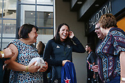 Sophie Pascoe shares a moment with her family members after being named New Zealand team flag bearer for the Gold Coast 2018 Commonwealth Games. Gold Coast 2018 Commonwealth Games, New Zealand Flag Bearer Announcement Ceremony, Gold Coast, Australia. 3 April 2018 © Copyright Photo: Anthony Au-Yeung / www.photosport.nz