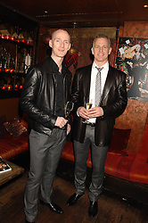 Left to right, MICHAEL FLYNN and BRIAN PADDICK Lib Dem candidate for Mayor of London 2008 at a party in honour of Ivana Trump hosted by Mohieb Dahabieh at Pasha, Gloucester Road, London on 25th January 2008.<br />