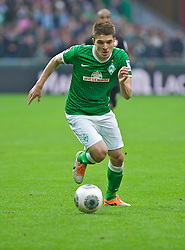15.03.2014, Weserstadion, Bremen, GER, 1. FBL, SV Werder Bremen vs VfB Stuttgart, 25. Runde, im Bild Aleksandar Ignjovski (SV Werder Bremen #17) am Ball // Aleksandar Ignjovski (SV Werder Bremen #17) am Ball during the German Bundesliga 25th round match between SV Werder Bremen and VfB Stuttgart at the Weserstadion in Bremen, Germany on 2014/03/16. EXPA Pictures © 2014, PhotoCredit: EXPA/ Andreas Gumz<br /> <br /> *****ATTENTION - OUT of GER*****