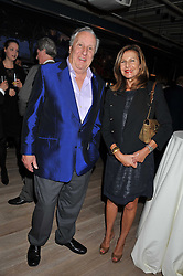FREDERICK FORSYTH and JOYCE REUBEN at a party to celebrate the publication of her  autobiography - The World According to Joan, held at the British Film Institute, South Bank, London SE1 on 8th September 2011.