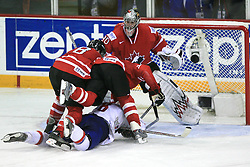 Scating into Canadian goal at play-off round quarterfinals ice-hockey game Norway vs Canada at IIHF WC 2008 in Halifax,  on May 14, 2008 in Metro Center, Halifax, Nova Scotia,Canada. (Photo by Vid Ponikvar / Sportal Images)