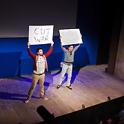 """That war"" with Muzz Khan and David Mumeni. TEN, a benefit event for Stop the War at the Royal Court, London."