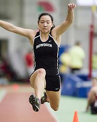 Bowdoin Indoor 4-way track meet: womens triple jump
