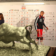 Thierry Henry, New York Red Bulls, is interviewed after his Man of the Match performance during the New York Red Bulls V Toronto FC  Major League Soccer regular season match at Red Bull Arena, Harrison. New Jersey. USA. 29th September 2012. Photo Tim Clayton