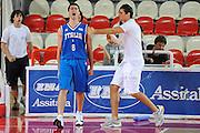 DESCRIZIONE : Teramo Giochi del Mediterraneo 2009 Mediterranean Games Italia Turchia Italy Turkey Preliminary Men<br /> GIOCATORE : Daniele Cinciarini Andrea Cinciarini<br /> SQUADRA : Nazionale Italiana Maschile<br /> EVENTO : Teramo Giochi del Mediterraneo 2009<br /> GARA : Italia Turchia Italy Turkey<br /> DATA : 30/06/2009<br /> CATEGORIA : esultanza curiosita<br /> SPORT : Pallacanestro<br /> AUTORE : Agenzia Ciamillo-Castoria/G.Ciamillo