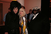 XABIER ARAKIS, PAM HOGG AND ADE, Post War and contemporary art party, Hosted by Christies and Vanity Fair. Old Brompton Rd. London. 10 October 2007. -DO NOT ARCHIVE-© Copyright Photograph by Dafydd Jones. 248 Clapham Rd. London SW9 0PZ. Tel 0207 820 0771. www.dafjones.com.