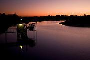 sunset on the beach on Isle of Palms, South Carolina.