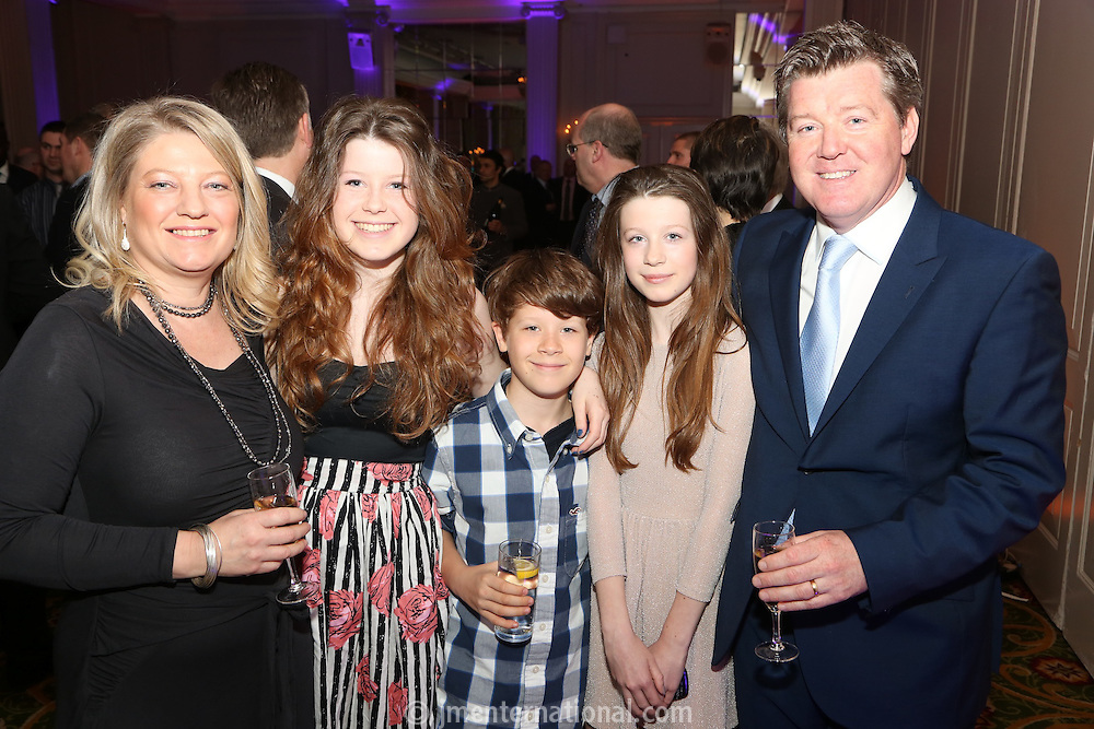 The Football Extravaganza celebrating 20 years of the Premier League, in aid of Nordoff Robbins. Geoff Shreeves and family..Wednesday, April.11, 2012 (Photo/John Marshall JME)