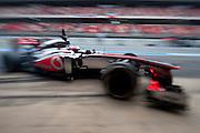 February 21, 2013 - Barcelona Spain. Jenson Button, Vodafone McLaren Mercedes during pre-season testing from Circuit de Catalunya.