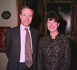 MR NIGEL PANTLING and his wife MARY ALLEN former Chief Executive of the Royal Opera House, at an exhibition in London on 3rd September 1998.MJO 37