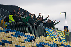 Fans Celjski grofje during football match between NK Celje and NK Olimpija Ljubljana in 15th Round of Slovenian First League PrvaLiga NZS 2012/13 on October 27, 2012 in Arena Petrol, Celje, Slovenia. (Photo By Matic Klansek Velej / Sportida)