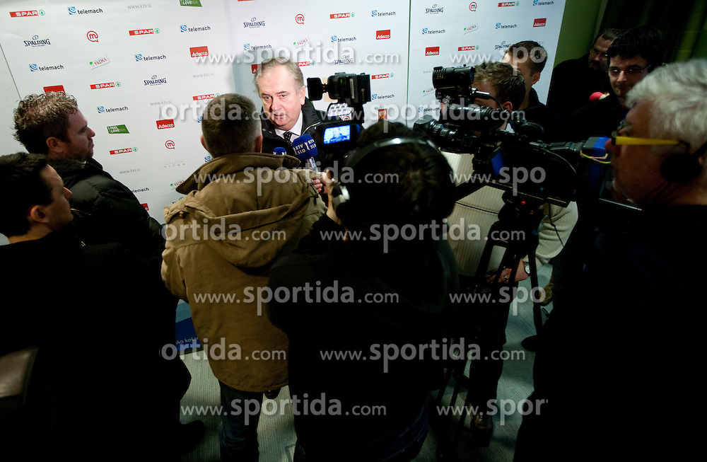 Coach Serbian Bozidar Maljkovic at press conference of new head coach of Slovenian national basketball team, on December 21, 2010 in Hotel Turist, Ljubljana, Slovenia. (Photo By Vid Ponikvar / Sportida.com)