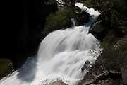 Kings Creek forms a dramatic cascades as it tumbles down a steep hillside in Lassen Volanic National Park, California.