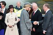 Staatsbezoek Denemarken - Dag 1. Aankomst van het Koninklijk gezelschap op vliegveld Kastrup<br /> <br /> State visit Denmark - Day 1. Arrival of the Royal Family at Kastrup airport<br /> <br /> op de foto / On the photo: Koningin Maxima en Links Prinses Mari / Queen Maxima and left princess Mari