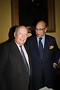 SIR JULIAN FELLOWES; SIR DESMOND DE SILVA,, Launch hosted by Quartet books  of Madam, Where Are Your Mangoes? by Sir Desmond de Silva at The Carlton Club. London. 27 September 2017.