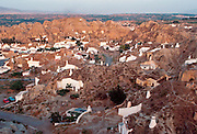 SPAIN, ANDALUSIA, GUADIX village with rock-cut 'cave' homes
