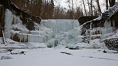 2012 Frozen Tobelbach Waterfall in Kuesnachtl