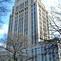 Atlanta City Hall in Atlanta, Georgia<br /> Terminus became a settlement adjacent to the new Western and Atlantic Railroad line in 1837. Soon afterwards it was called Thraserville and then changed to Marthasville. In 1847, the town was renamed Atlanta to honor the railroad. In addition to four names, it has also had four city halls since 1854. Architect Lloyd Preacher was responsible for the Neo-Gothic design of the current government building. The Atlanta City Hall opened in 1930 and is listed by the U. S. National Register of Historic Places.