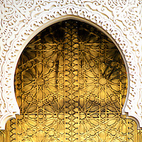 Golden Door and an Arch Way - Casablanca, Morocco