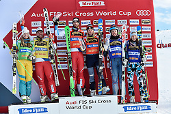 11.02.2017, Idre Fj&auml;ll, SWE, FIS Weltcup Ski Cross, Idre Fj&auml;ll, im Bild v.l. Sami Kennedy- Sim (AUS), Marc Bischofberger (SUI), Alex Fiva (SUI), Sandra N&auml;slund (SWE), Igor Omelin (RUS), Katrin Ofner (AUT) // during the FIS Ski Cross World Cup in Idre Fj&auml;ll, Sweden on 2017/02/11. EXPA Pictures &copy; 2017, PhotoCredit: EXPA/ Nisse Schmidt<br /> <br /> *****ATTENTION - OUT of SWE*****