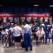 Italy, Biella- Italian National Games 2012 - bowling teams await the start of the race. Although Bowling does not belong to the Olympic sports, it is considered to be among the most popular sport in the Special Olympics.  It is a particularly beneficial sport to people with intellectual disabilities, since it ensures physical exercise and at the same time participation and social integration.