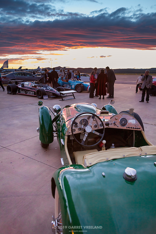 The Allard watches sunset, Planes and Cars at the Santa Fe Airport, 2013 Santa Fe Concorso.
