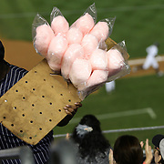 A candy floss seller during the New York Yankees V Boston Red Sox Baseball game which the New York Yankees beat Boston Red Sox 14-2 to become American League East champions at Yankee Stadium, The Bronx, New York. 4th October 2012. Photo Tim Clayton