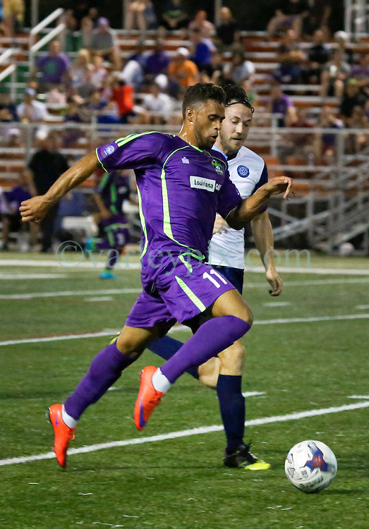 11 June 2016. New Orleans, Louisiana.<br /> NPSL Soccer, Pan American Stadium.<br /> New Orleans Jesters v Chattanooga FC. Jesters lose 0-1 in a fiercely fought contest.<br /> Photo; Charlie Varley/varleypix.com