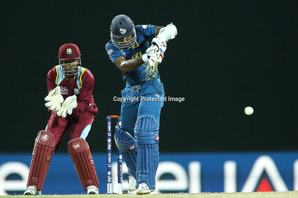 Mahela Jayawardene during the ICC World Twenty20 Super 8s match between Sri Lanka and The West Indies held at the  Pallekele Stadium in Kandy, Sri Lanka on the 29th September 2012<br /> <br /> Photo by Ron Gaunt/SPORTZPICS