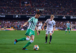 February 28, 2019 - Valencia, U.S. - VALENCIA, SPAIN - FEBRUARY 28: Marc Bartra, defender of Real Betis with the ball during the Copa del Rey match between Valencia CF and Real Betis Balompie at Mestalla stadium on February 28, 2019 in Valencia, Spain. (Photo by Carlos Sanchez Martinez/Icon Sportswire) (Credit Image: © Carlos Sanchez Martinez/Icon SMI via ZUMA Press)