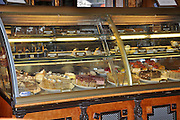 Eastern Europe, Hungary, Budapest, cakes on display at Gerbeaud