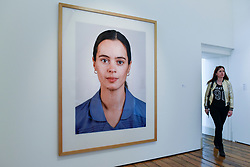 "London, UK.  17 May 2017. ""Portrait (A Zeitler)"", 1998, by Thomas Ruff.  Preview of Photo London 2017 at Somerset House.  Held for the third time, the event showcases the best in contemporary photography, from 89 galleries from 16 different countries, for collectors and enthusiasts and will be on from 18 - 21 May. Credit: Stephen Chung / Alamy Live News"